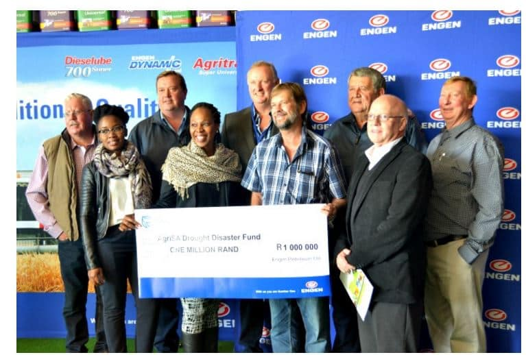 Agri Northern Cape - Engen donates R1 million to Agri SA Drought Relief Fund