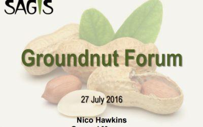 Groundnut Forum sagis - 27 July 2016