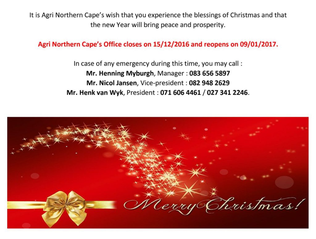 AGRI NC - Merry Christmas